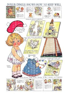 Vintage Art Prints, Vintage Posters, Vintage Images, Paper Dolls Printable, Printable Vintage, Recycle Old Clothes, Vintage Paper Dolls, Colorful Parrots, Christmas Paper Crafts
