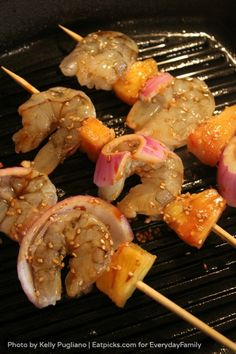 Quick and Easy Teriyaki Shrimp Kebabs by Kelly Pugliano via EverydayFamily Eats