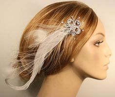 feather  headpiece for my lovely maid of honor @Elisa Quintana