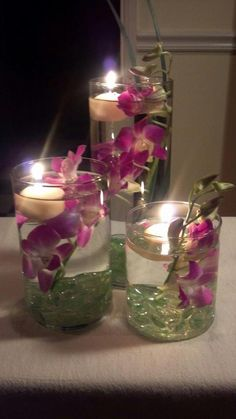centerpiece my sister planned during our mom 80th birthday
