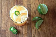 Peach Jalapeno Margarita: 3 large ripe peaches 6 ounces silver tequila 2 ounces orange flavored liquer such as triple sec or cointreau 2-4 ounces simple syrup  Juice of one large lime or 2 small Juice of one orange juice
