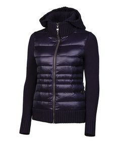Eggplant Paige Wool-Blend Down Puffer Jacket by Neve #zulily downjacket http://www.zulily.com/invite/jzabrowski188