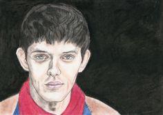 Colin Morgan as Merlin by Vanessafari - #ColinMorgan in the #BBCMerlin series, by #Vanessafari. More drawings at vanessafari.com