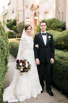 Classic black tie wedding: http://www.stylemepretty.com/2016/03/21/elegant-intimate-glen-manor-wedding/ | Photography: Rebecca Arthurs - http://rebecca-arthurs.com/
