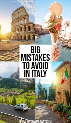 Big Mistakes To Avoid In Italy | How to travel Italy like a pro | tips for planning a trip to Italy | how to plan your italy itinerary on your first trip | Italian travel tips | best things to do in Italy #europetravel #italy #italytravel #traveltips #italyvacation