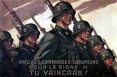 Propagande pour la Division Charlemagne. Légion française.