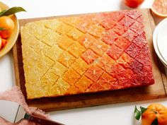 Get Upside-Down Citrus Ombre Cake Recipe from Food Network