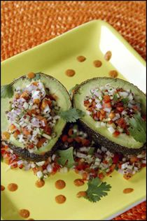 Stuffed avocados! - Liver Cleansing Diet Recipes for a Happy Healthy Liver - Love Your Liver & Live Longer - Happy Liver Flushing! - I LIVER YOU