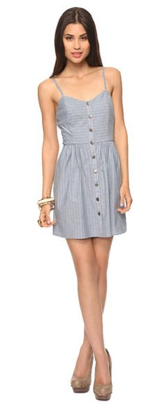 striped chambray dress, forever 21, $19.80