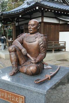 Statue of Sanada Yukimura which stands at Yasui shrine in Osaka city #Samurai
