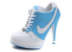 Shop women's Nike Dunk Low SB High Heels Lace Up Shoes PurpleWhite Sale