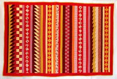 Orange explains it all: seminole quilt
