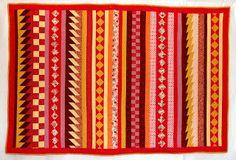 Orange explains it all: seminole quilt