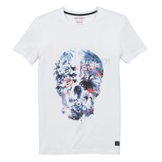 T-shirt round neck short sleeve Soft Grey   La Redoute