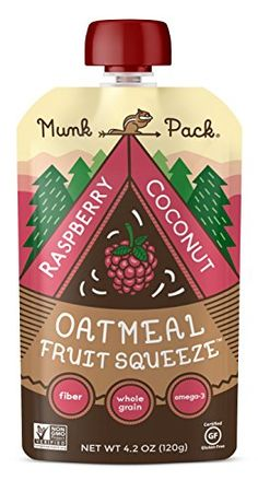 Munk Pack Oatmeal Fruit Squeeze Raspberry Coconut 42 oz Pouch 6 Pack *** Check this awesome product by going to the link at the image.
