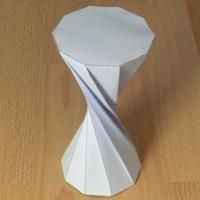 twisted decagonal prism (180 degrees)