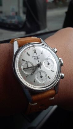 Superb Vintage Heuer Carrera Chronograph In Stainless Steel Circa – Uhren - Armbanduhr Simple Watches, Cool Watches, Rolex Watches, Watches For Men, Unique Watches, Affordable Watches, Vintage Rolex, Vintage Watches, Armani Jeans