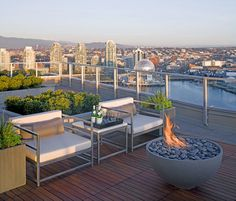 """Solus Hemi 36"""" Fire Pit overlooking Vancouver's False Creek, Photo by Raef Grohne   Flickr - Photo Sharing!"""