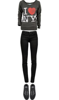 """NY"" by bieberconda-1 ❤ liked on Polyvore"