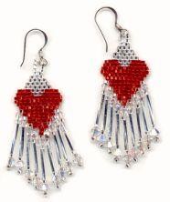 Heart Earrings Pattern by Susie Hughes  http://www.bead-patterns.com/shop/shop.php?method=itemnumber&keywords=756
