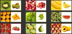 Nine photos of fruit with names. There are 3 cards to an page. Fruits Photos, Fruits And Vegetables, Names, Apple, A4, Plants, Food, Teacher, Science