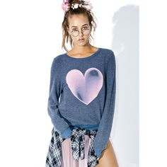 Wildfox Couture Faded Love Baggy Beach Jumper ($98) ❤ liked on Polyvore featuring tops, sweaters, baggy jumpers, baggy beach jumper, slouchy tops, graphic tops and graphic sweater