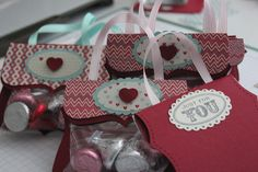 Stampin Up Valentine Treat Holders
