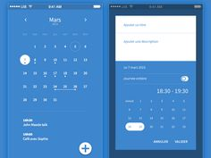 Here we have collect some awesome material design calendar app UI design inspiration to make beautiful web and mobile calendar application. Web Design, App Ui Design, Mobile App Design, User Interface Design, Flat Design, Mobile Ui, Calendar Ui, Kids Calendar, Calendar Design