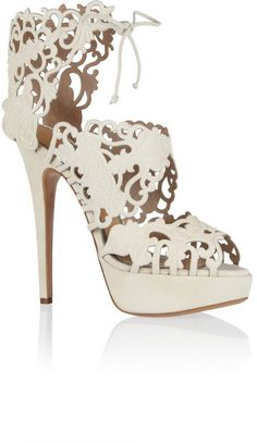 Charlotte Olympia Belinda cutout suede sandals on shopstyle.com