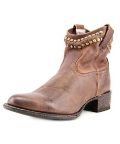 FRYE | Frye Diana Cut Stud Short Women  Pointed Toe Leather Brown Ankle Boot #Shoes #Boots & Booties #FRYE