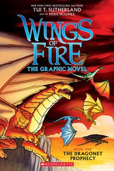 Wings of Fire Graphic Novels based on the Books by Tui T Sutherland -- Not every dragonet wants a destiny ...   Clay has grown up under the mountain, chosen along with four other dragonets to fulfill a mysterious prophecy and end the war between the dragon tribes of Pyrrhia. He's not so sure about the prophecy part, but Clay can't imagine not living with the other dragonets; they're his best friends.