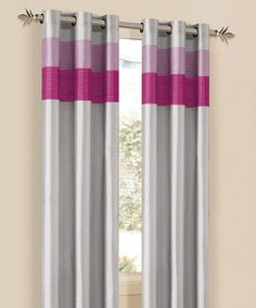 Take a look at this Silver & Pink Chelsea Curtain Panel by Duck River Textile on #zulily today!