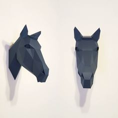 + cavalo!  #origami3d #polyhead #paperart #lowpoly ↔ www.polyheads.com