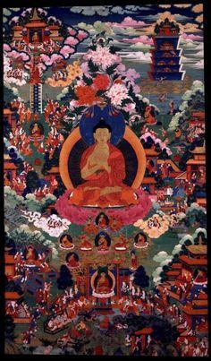 [转载]美国布鲁克林博物馆:18世纪<wbr>西藏唐卡<wbr>《释迦牟尼佛》
