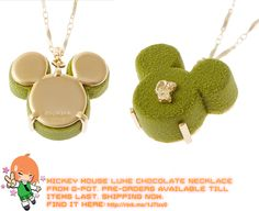 Mickey Mouse Luxe Chocolate Necklace   #rinkya #japan #fromjapan #qpot #japanfashion