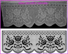 Risultati immagini per miria croches e pinturas Filet Crochet, Crochet Patterns Filet, Annie's Crochet, Crochet Borders, Crochet Purses, Crochet Chart, Thread Crochet, Crochet Designs, Crochet Stitches