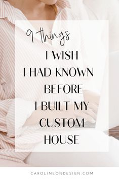 The Top 9 Things I Wish I had Known Before Building a House | Caroline on Design Building A House Checklist, Home Building Tips, Building Plans, Building Design, New House Plans, House Floor Plans, New Home Construction, Construction Cost, House Siding