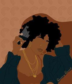 Black Love Art, Black Girl Art, Black Is Beautiful, Black Girl Magic, Art Girl, Black Art Painting, Black Artwork, African American Art, African Art