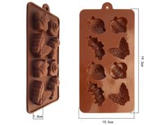 Molde em silicone para chocolate Borboleta e Centopéia