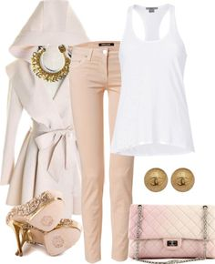 White Blouses:Ideas and Styles. Heels can be changed for flats.