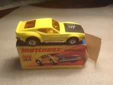 1970's MATCHBOX CAR LESNEY SUPERFAST # 44 Boss Mustang With Box
