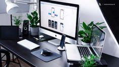 Home Office Setup, Home Office Design, Office Desk, House Design, Gaming Setup, Computer Desk Setup, Computer Help, Computer Laptop, Office Furniture Inspiration