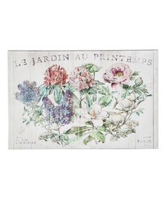 Another great find on #zulily! Parisian Flowers Canvas #zulilyfinds