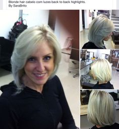 Especial Raquel! Blonde hair. Mechas back to back highligths! By SaraBrito.