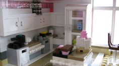 Kitchen. Please vote for my #modern #modular #lego #house on #Lego #Cuusoo Other colours are proposed. #architecture #moc #pink #building http://lego.cuusoo.com/ideas/view/37875