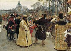 Arrival tsars Piotr and Ioann, 1900  Ilya Repin