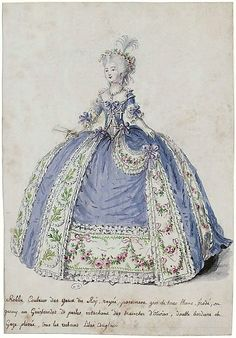 Court dress in 1786, France                                                                                                                                                                                 Plus