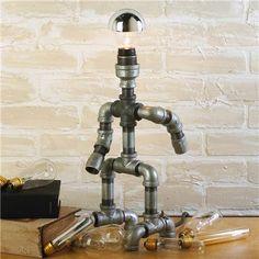 Repurposed Plumber Pipe Standing Lamp