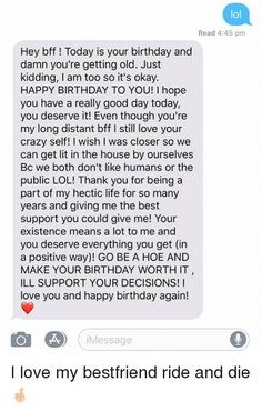 Long Birthday Wishes, Happy Birthday Best Friend Quotes, Best Friend Texts, Message For Best Friend, Happy Birthday Wishes For A Friend, Birthday Wishes For Boyfriend, Best Friend Messages, Birthday Wishes For A Friend Messages, Birthday Greetings