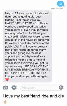 Short Birthday Wishes, Happy Birthday Best Friend Quotes, Best Friend Texts, Message For Best Friend, Happy Birthday Wishes For A Friend, Today Is Your Birthday, Birthday Wishes For Boyfriend, Wishes For Friends, Best Friend Messages